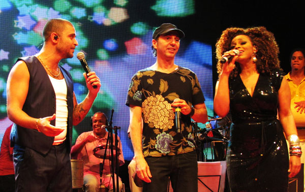 Diogo Nogueira, Zeca Baleiro e Paula Lima Foto Renato Acha