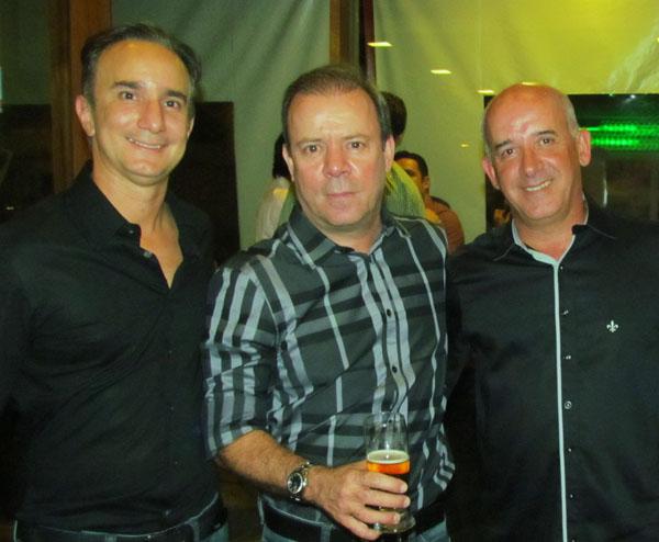 Os sócios Glauco Santana, Érico Cagali e Jorge Lessa.