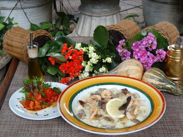 Gnocchi al limone com gamberi & funghi 1