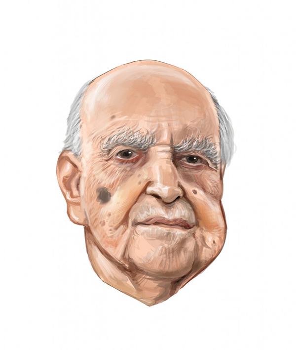 Oscar Niemeyer por Aroeira. Divulgação.