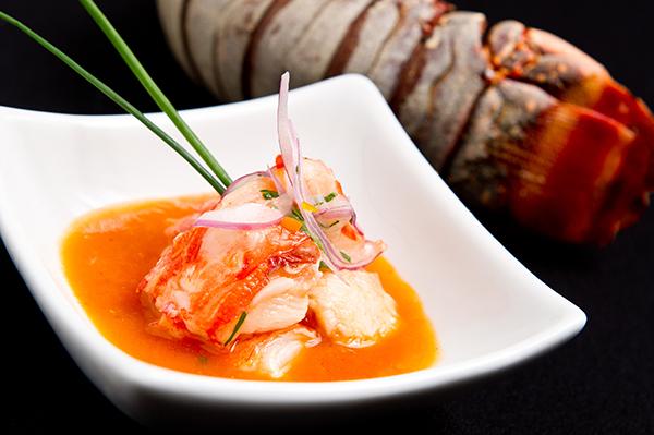 Ceviche Nordeste com lagosta.