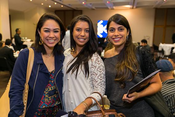 Cristiane Maruyama, Aline Costa e Tatiana Munhoz.