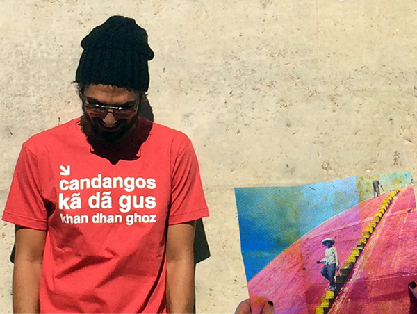 Pedro Sangeon aka Gurulino usa camiseta da Experimente Brasília.