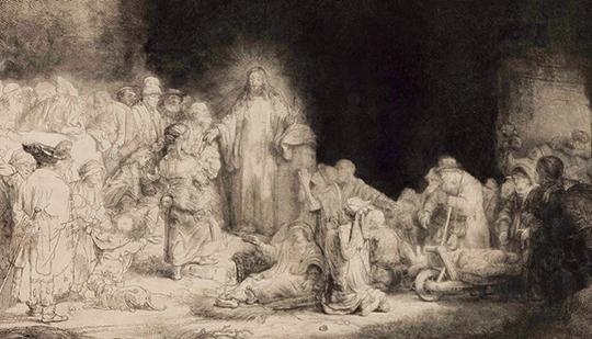 A Gravura dos Cem Florins (1648-49).