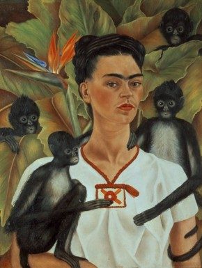 Autorretrato com Monos 1943 Frida Kahlo