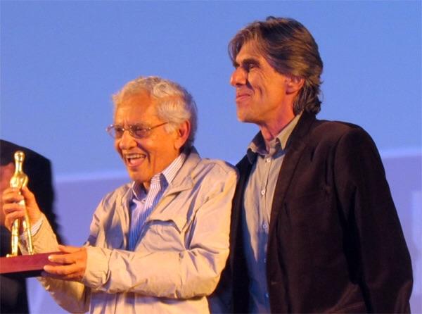 Vladimir de Carvalho e Guilherme Reis (Secretário de Cultura do DF). Fotos: Renato Acha.