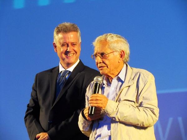 Rodrigo Rollemberg (Governador do DF) e Vladimir de Carvalho.
