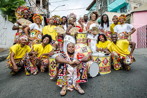 Grupo Ilê Aiyê. Foto: Andreé Frutuoso. Divulgação.