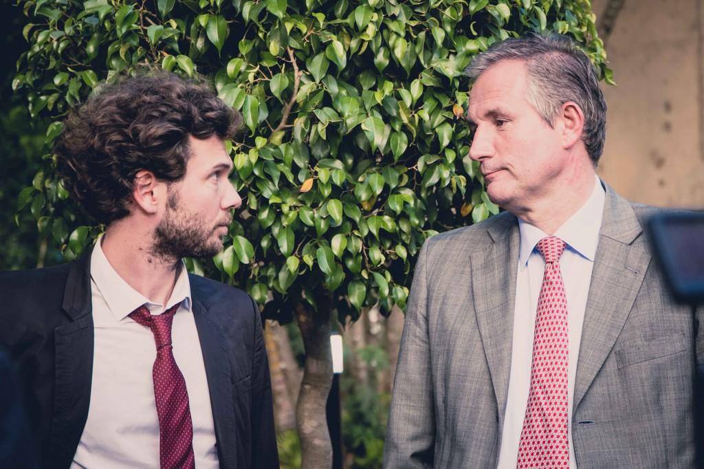 Nicolas Corman e o Embaixador da França, Laurent Bili.