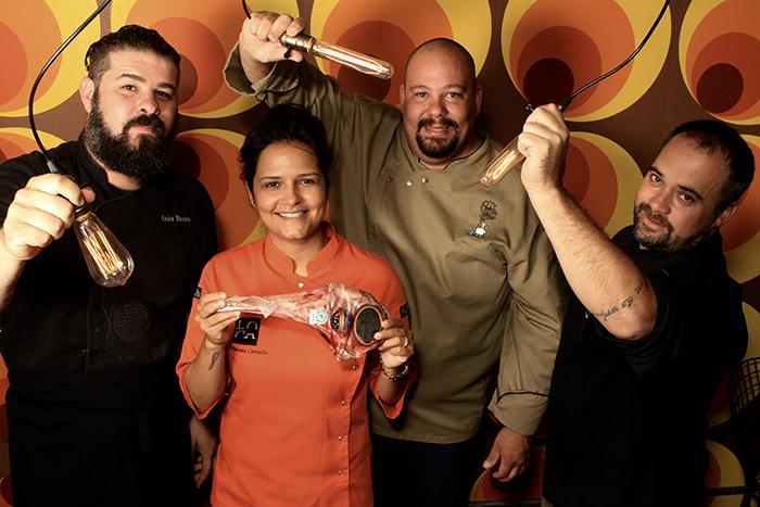 André Batista, Renata Carvalho, Rodrigo Almeida e Tonico Lichtsztejn. Foto: Lula Lopes.