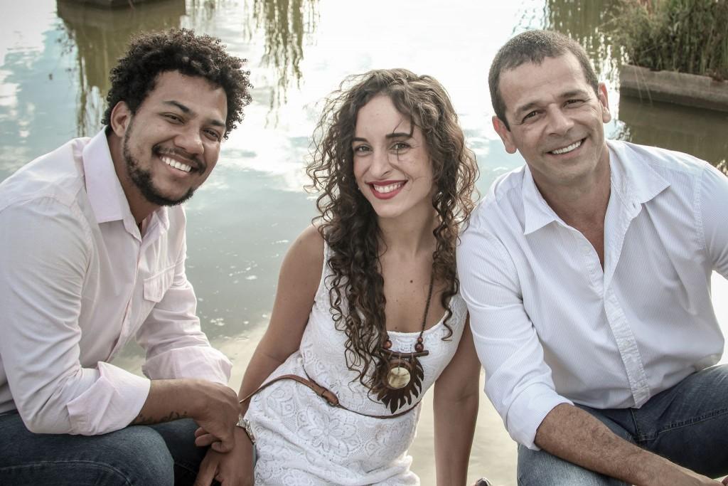 Vinícius de Oliveira, Litieh Martins e Marquinhos Benon. Foto: Célio Maciel. Divulgação.