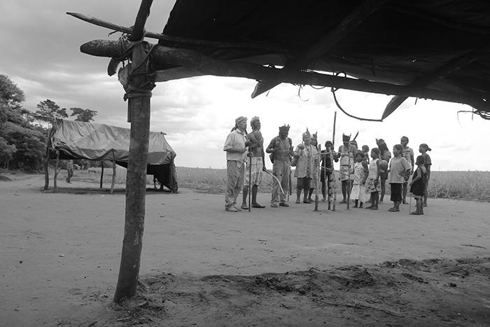Ritual Tekoha Takuara em Juti (MS). Foto: Rodrigo Arajeju. Divulgação.