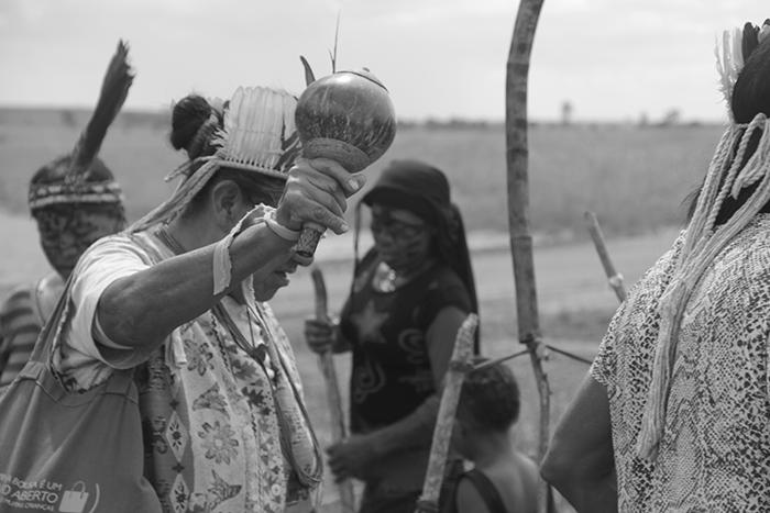 Ritual Tekoha Takuara em Juti MS Foto Rodrigo Arajeju