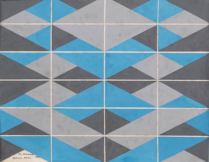 Projeto para azulejos do condomínio Vila Normanda. Guache sobre Papel.
