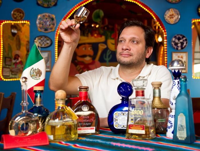 Cata de tequila com o chef David Lechtig.