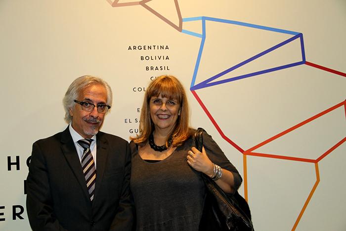 Adido Cultural da Embaixada do México Guillermo Palacios e Marília Panitz.
