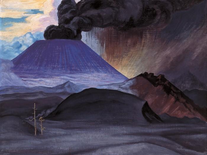 El Paricutín 1946 Gerardo Murillo Dr. Atl Colección. Instituto Nacional de Bellas Artes (México). Divulgação.