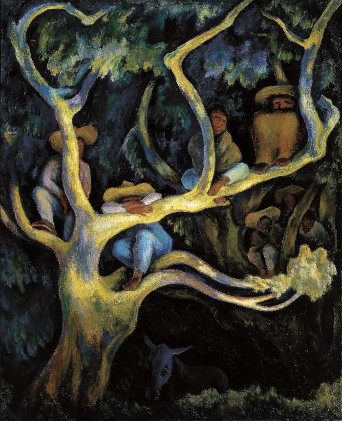 Paisaje nocturno (1947). Diego Rivera. Colección Instituto Nacional de Bellas Artes (México).