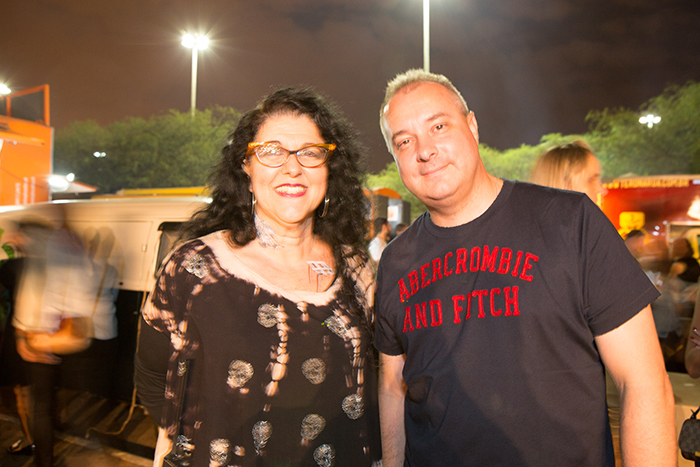 Vera Seciliano e o Diretor do CCBB Brasília, Cloves Henrique Nogueira.