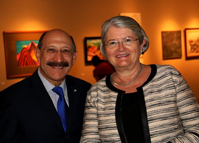 Embaixador da Guatemala, Julio Martini e Aud Maritwiig, Embaixadora da Noruega.