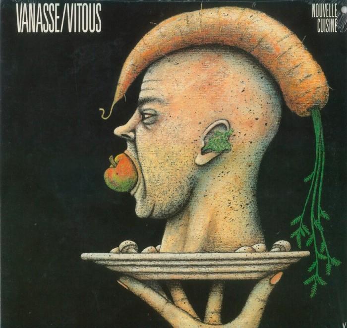 "Vanasse/Vitous, do Nouvelle Cuisine. Capa de disco integrante da mostra ""Natureza Móvel"" com curadoria de Sérgio Moriconi."