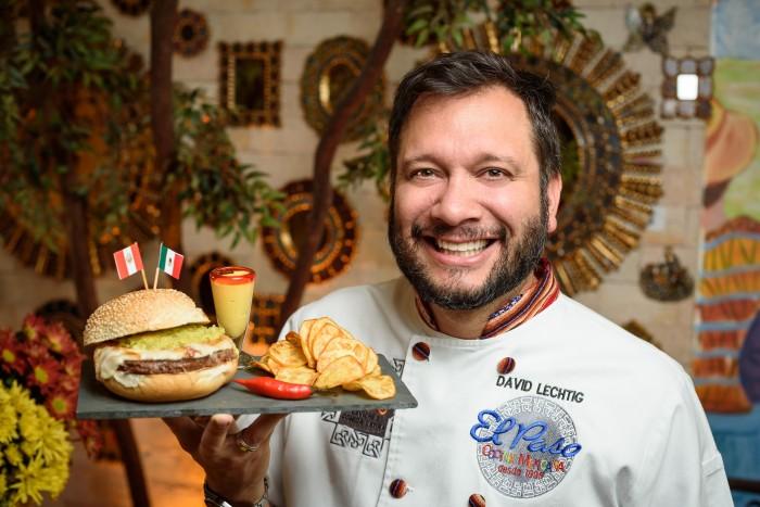 Hamburguesa latina do chef David Lechtig. Foto: Telmo Ximenes.