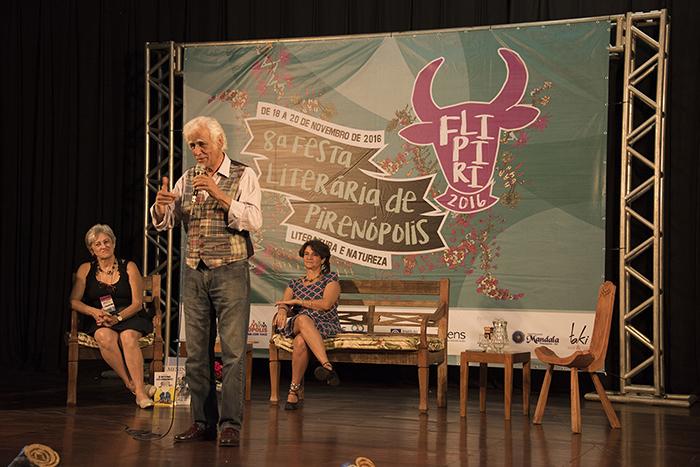 Íris Borges, Ziraldo e Nurit Bensusan.