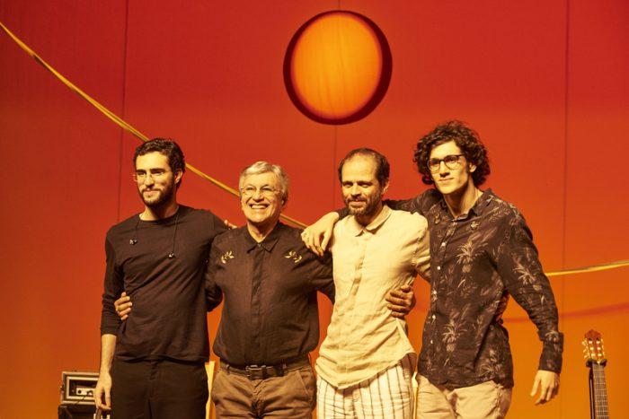 Caetano, Moreno, Zeca e Tom Veloso em Brasília